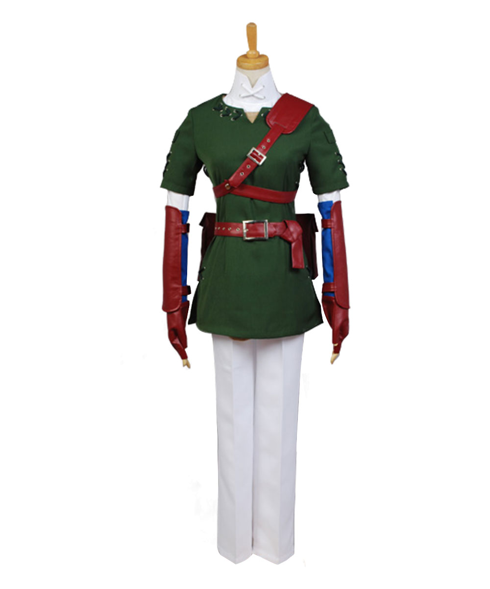 The Legend of Zelda Twilight Princess Link Cosplay Costume Outfit Full Set For Adult Halloween Costume