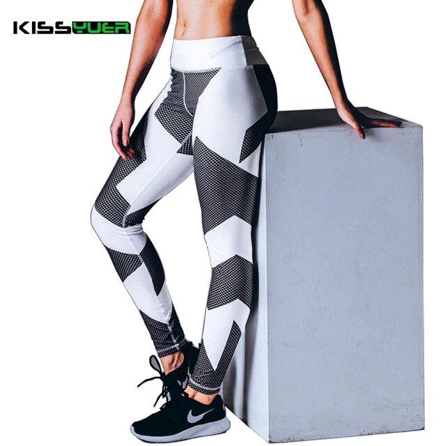 78fdbcaa30 US $15.04  KISSyuer Female Sports Leggings Fitness Elasticity Waist Tight  Women Black Yoga Wear Pant Lady Stretch Mesh Trouser Pants KL145-in Yoga ...