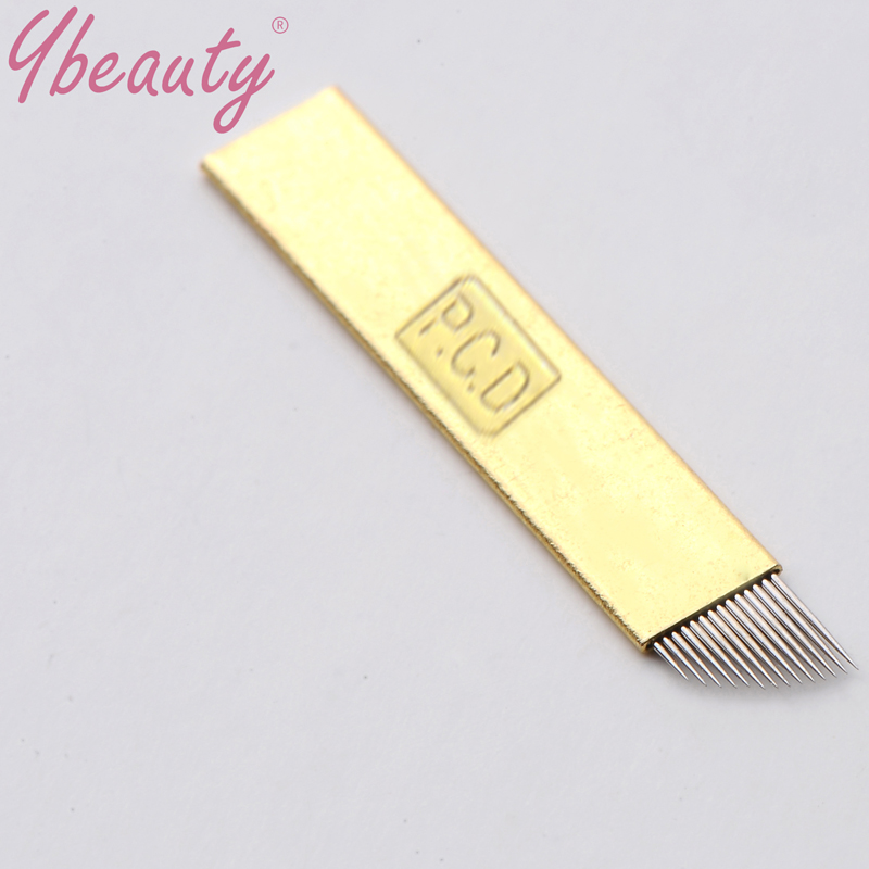 New 100pcs 11 Needles Permanent Makeup Manual Eyebrow Tattoo Needles Blade For 3D Embroidery Microblading Tattoo Pen Machine 5