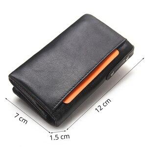 Image 2 - İletİşİm hakiki deri erkek anahtar cüzdan küçük erkek çanta ile sikke cep anahtarlık adam çantası kahya yüksek kaliteli anahtarlık