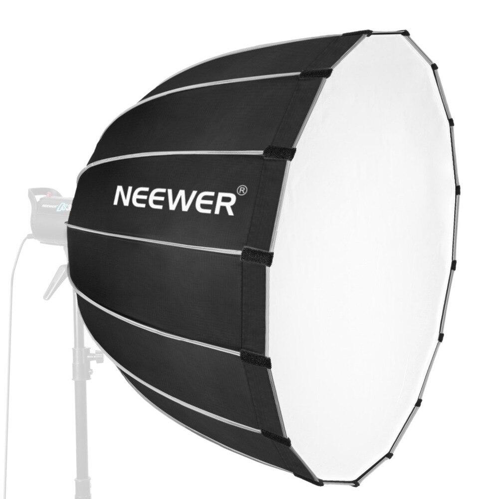 Neewer Hexadecagon Softbox 36 pouces/90 centimètres avec jante grise et monture Bowens, diffuseur Softbox Portable et rapide à plier