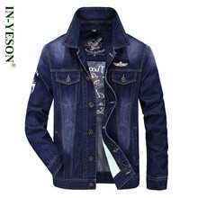 IN-YESON brand denim jacket men 2017 Spring & Autumn casual slim fit mens jeans jacket outerwear jaqueta masculina 9755