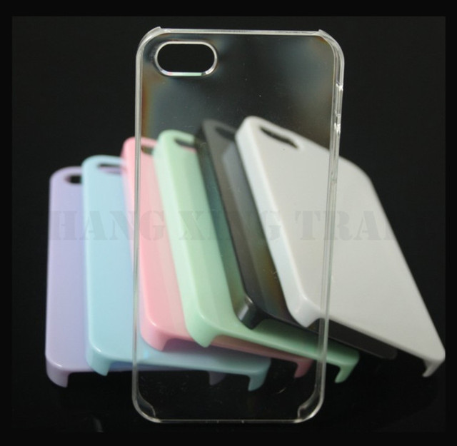 New 50PCS diy transparent protection shell  high transparent for iphone5 5S case #8134