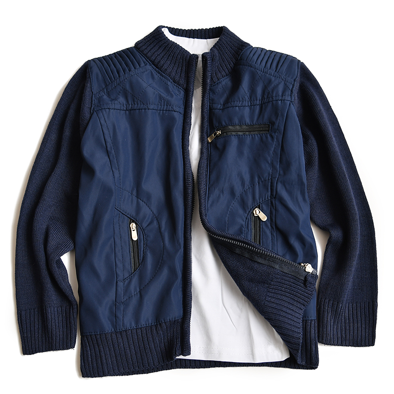 d33cbcfe89f1b7 spring children knit cardigan kids 100% cotton knited jacket coat baby boy  outerwear children clothes boy knitting sweater coat