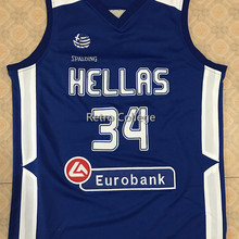 2f19390d6 HELLAS Greek  34 Giannis ANTETOKOUNMPO G. white Blue 2016 throwback Basketball  Jersey Stitched Customize any name and number