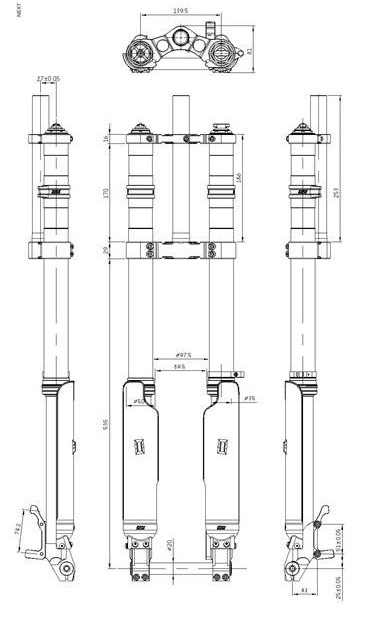 2018 new est dnm usd-8s dh fr front fork bike air suspension 26 27 5