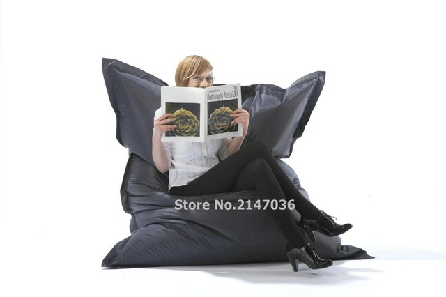 Outdoor And Indoor Waterproof Bean Bag Lounger , Cover Only , Reading Chair
