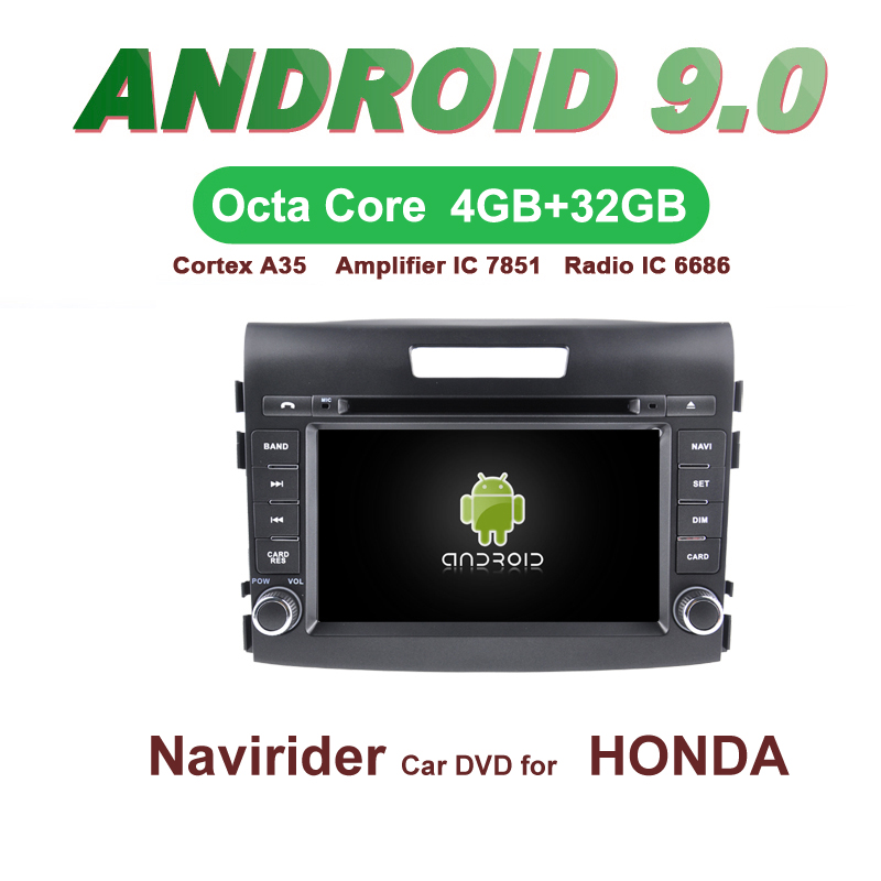 OTOJETA Car GPS Android 9.0 Radio FOR HONDA CRV 2012 2014 Navigation integrated stereo Capacitive screen Support Mirror Link