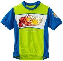 Niños y niñas camisas de secado rápido de la bici jersey ciclismo bicicleta desgaste de manga corta de bicicletas maillot ciclismo clothing envío gratis