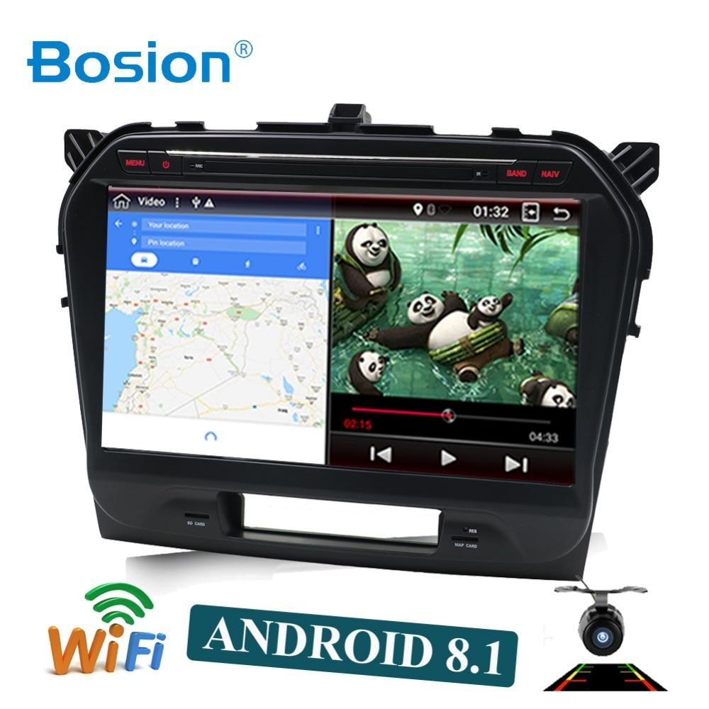 Octa 8 core Android 8.1 lecteur DVD multimédia de voiture pour Suzuki Vitara 2015 2016 2017 2018 2019 GPS Navigation radio BT carte WIFI