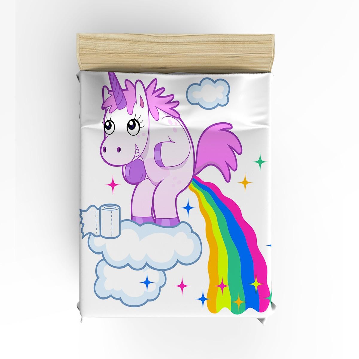 3d Dos Desenhos Animados Unicorn Rainbow Imprimir 3 pcs 4 pcs Jogo do Fundamento Home Decor Set Capa de Edredão Macio Conjuntos de Cama Adulto crianças Frete Grátis - 2