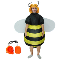 Centuryestar Halloween Adults Fancy Funny Inflatable Costume Colorful Butterfly Bee Carnaval Costumes Bat Wings Cosplay Suits