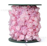 Pearl beads Free Shipping!30meters 4color satin rose garland wedding centerpiece flower candle decoration crafting DIY accessory
