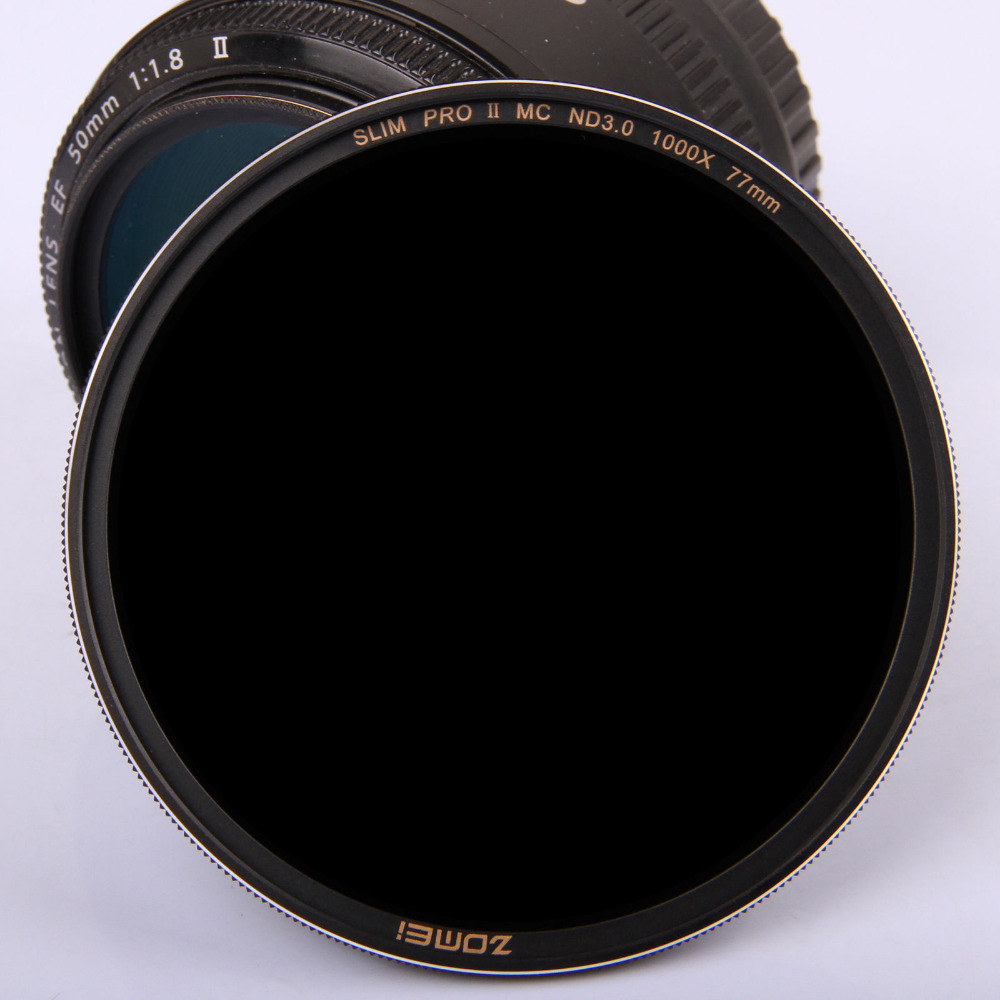 ZOMEI 77mm PRO II (PROII) slim MC Neutral Density Lens Filter ND 3.0 ND1000 1000X 10 Stop-in Camera Filters from Consumer Electronics    1