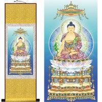 Tnukk Южной медицины гуру Будды махаяны шелк висит картина/декоративной живописи прокрутки живопись оптовая продажа