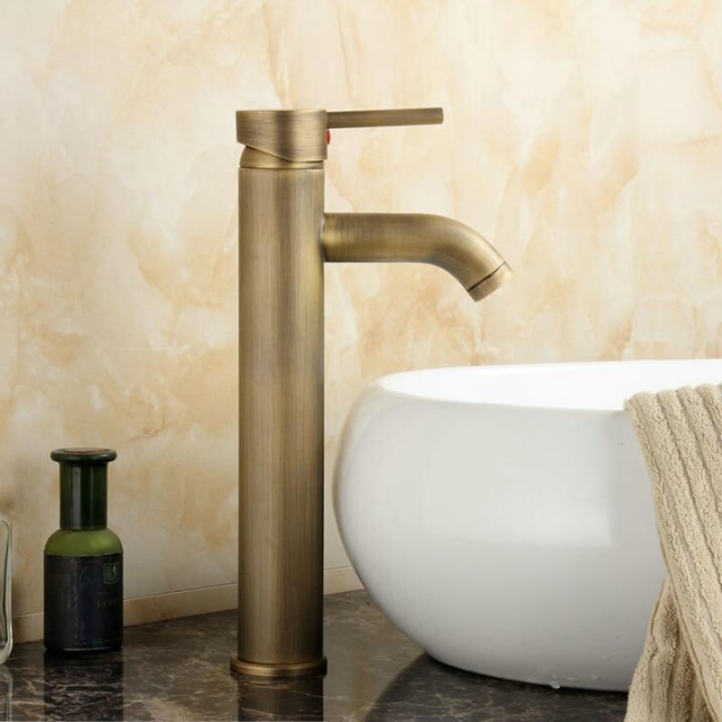 Livraison gratuite becola antique robinet en laiton Salle De Bains En Laiton Mitigeur trou de Surface Monté bassin robinet GZ-8011