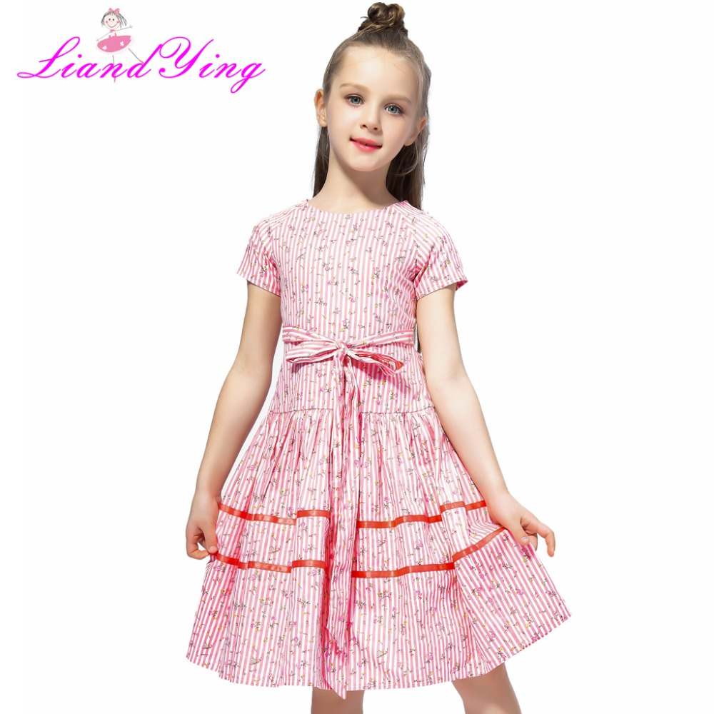 Yying Kids Filles Clothing Formal Teenagers Prom Gown Wedding Party Robes