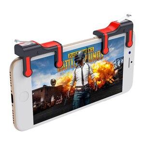 Image 3 - בקר משחק הנייד ג ויסטיק טריגר L1R1 כפתור אש כללים של הישרדות נייד טלפון חכם מפתח עבור PUBG המטרה מפעיל shooter