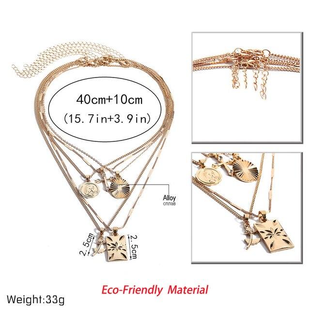 Golden Carve Ladies necklace for women 4