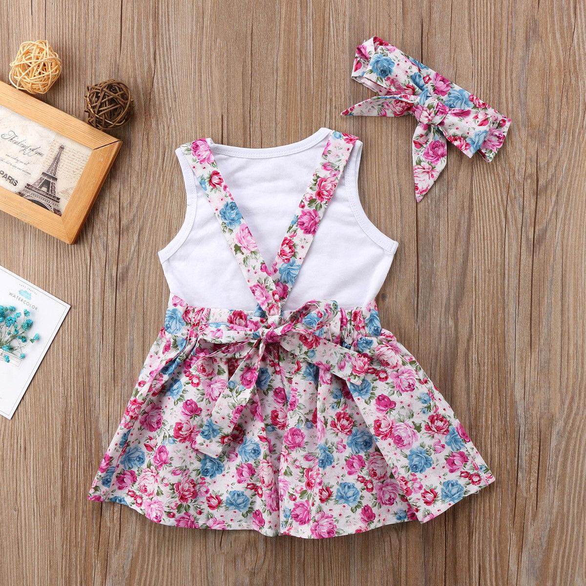 2018 Brand New Newborn Toddler Baby Kid Girl Sister Matching Cotton