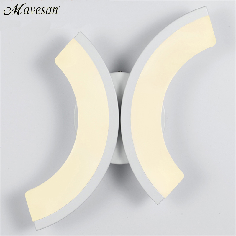 ФОТО Contemporary LED Wall Lamp with right & left ligth For Bathroom &n Bedroom AC100-265V LED Wall Light Indoor Lighting