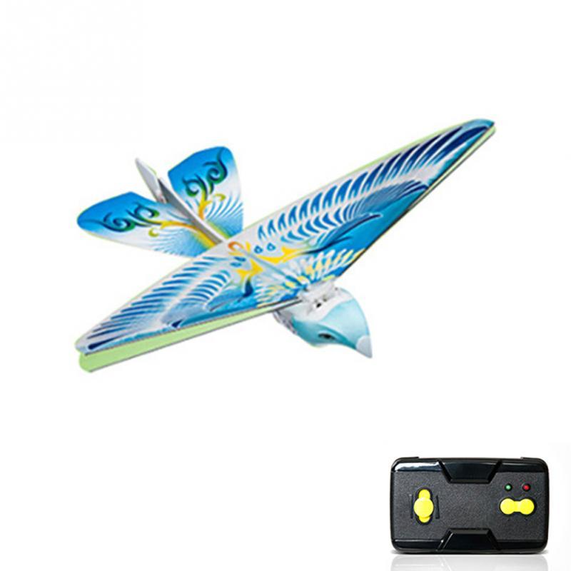 RC pájaro Avión RC 2.4 GHz Control remoto de pájaro volando Aves electrónico mini RC drone Juguetes