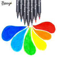 Bianyo Aquarelle Brush Marker Pen Sets 12 24 36 48 80 Colors School Office Students Artist