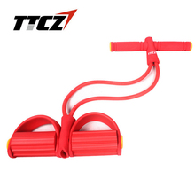 TTCZ hot sale 2 Tube Strong Resistance Bands Latex Pedal Exerciser Women Men Sit Up Pull Ropes