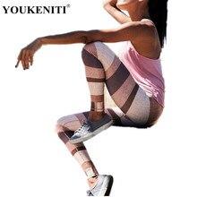 YOUKENITI 2018 New Brand Leggings Push Up Hips Patchwork Print High Elastic Fitness Legging For Women Casual Female Pant