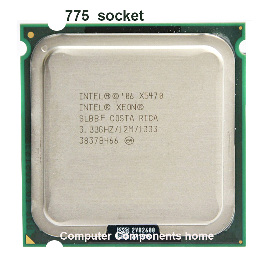 INTEL xeon X5470 LGA775 CPU processeur (3.33 GHz/LGA771/12 MB Cache L2/Quad Core/FSB 1333) scoket 771 à 775 CPU garantie 1 yera