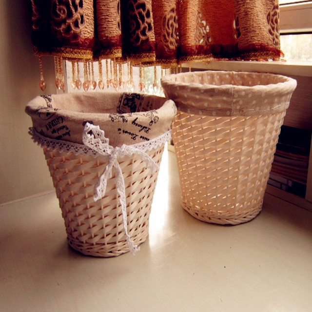 2017 New Wicker Storage Basket Rattan Kitchen Sundry Goods Storage