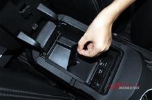 Стайлинга автомобилей интерьера черный автомобиль подлокотник коробка для хранения Организатор 1 шт. для Ford Mustang 2015 2016 2017