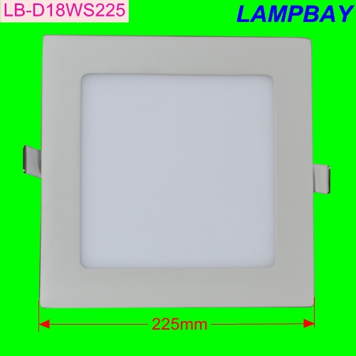 (10 Pack) Free Shipping LED Panel light square 18W 225mm cut out 200mm slim downlight tw ...