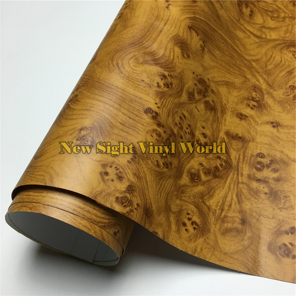 Birds eye wood textured vinyl sheet wood vinyl wrap pvc for floor furniture car interier size1 24x50m roll4ft x 165ft in car stickers from automobiles