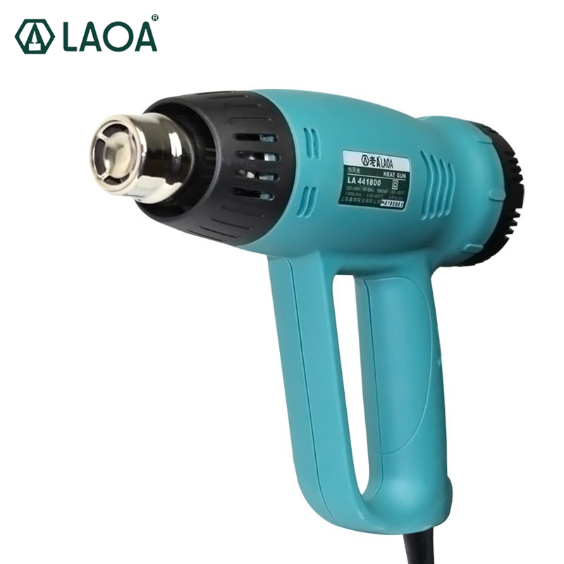 LAOA Industrial Grade Heat Gun 1800W Temperature Adjustable Hot Air Gun laoa 1800w heat gun temperature adjustable hot air gun with over load protect hot air blower