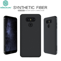 For LG G6 Cover Original Nillkin High Quality PC Synthetic Carbon Fiber Woven Pattern Build In