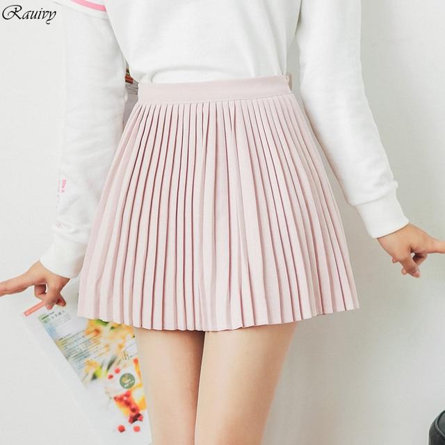 b3fef8761 € 13.94 |Verano 2017 faldas para mujer harajuku ulzzang coreana vintage  primavera falda plisada nuevo retro negro rosa de cintura alta falda de las  ...