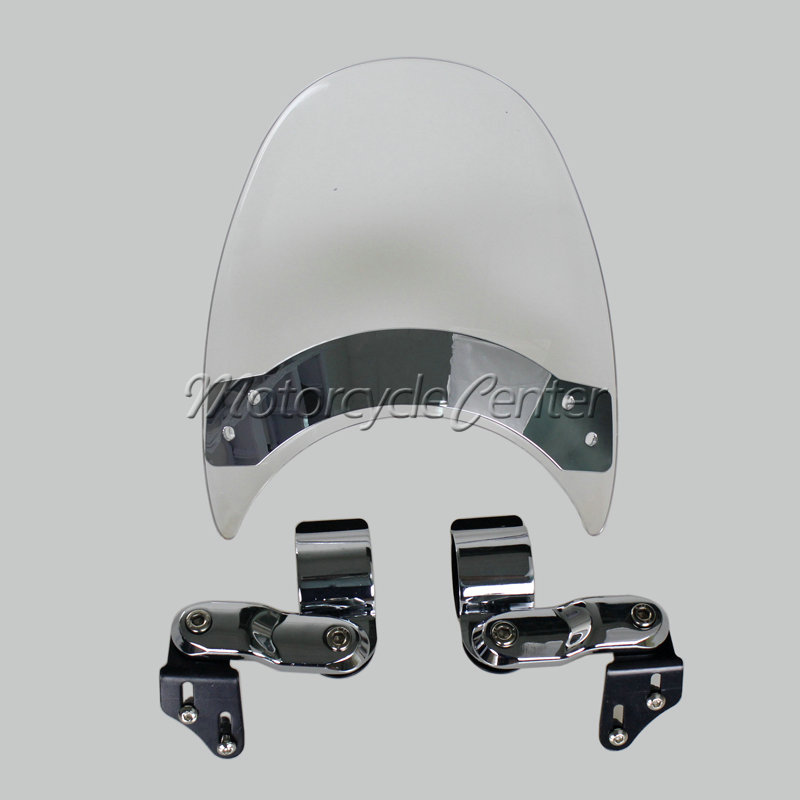 Wind Deflectors Windshield Windscreen For 2006-2011 Harley Sportster 1200 Low XL1200L Nightster XL1200N Iron 883 XL883N XL Clear brand new silver color motortcycle accessories abs plastic led tail light fit for harley harley iron 883 xl883n xl1200n chopped