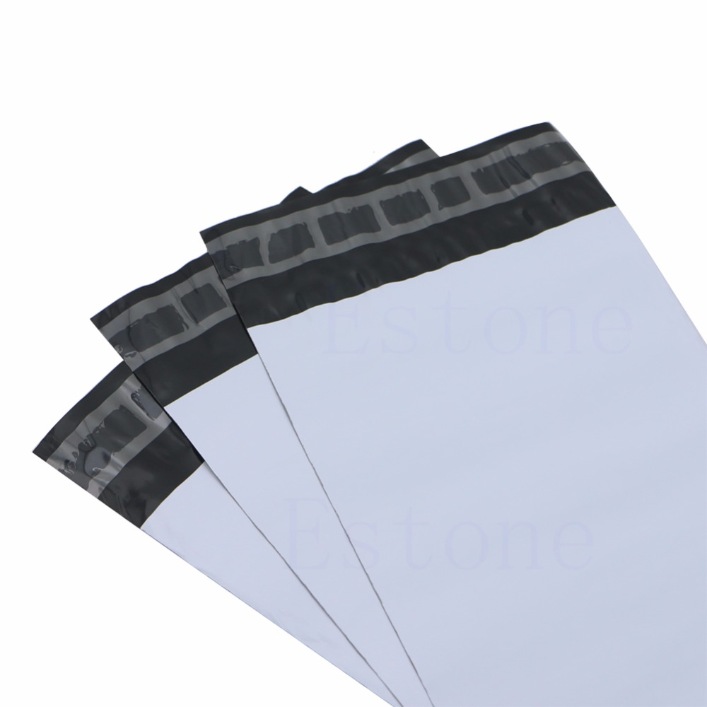 100Pcs 13*30cm Poly Mailer Self Sealing Plastic Shipping Mailing Bag Polybag
