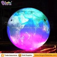 Customized 10 feet inflatable earth ball decorative 3 meters giant inflatable earth balloons with LED toys