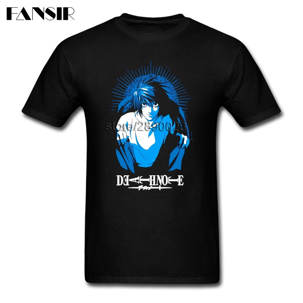 Tailored T Shirts Male Short Sleeve Cotton Custom Death Note Guys Clothing Men Tshirt
