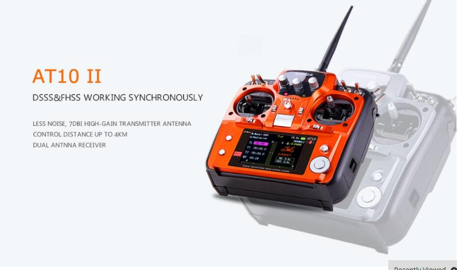 Original RadioLink AT10 II 2 4Ghz 12CH RC Transmitter with R12DS Receiver PRM 01 Voltage Return
