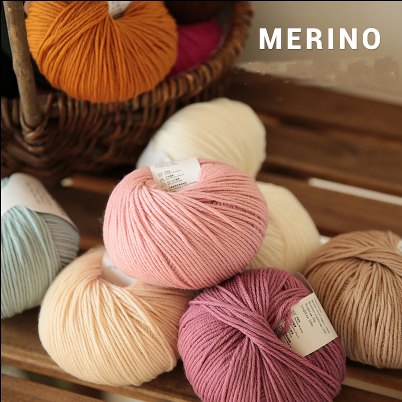 10 Pcs / Lot 100% Merino Wool Yarn Hand Knitting Baby Kids Scarves Socks Soft Thick Yarn For Knitting Cashmere Threads Hand Knit