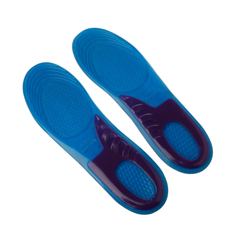 Women Men damping Insole Silicone Gel Orthotic Arch Support Massaging Sport Shoe Insole Run Pad free shipping 1 pair unisex sport insole gel massaging insole arch support orthopedic plantar fasciitis running silicone insole