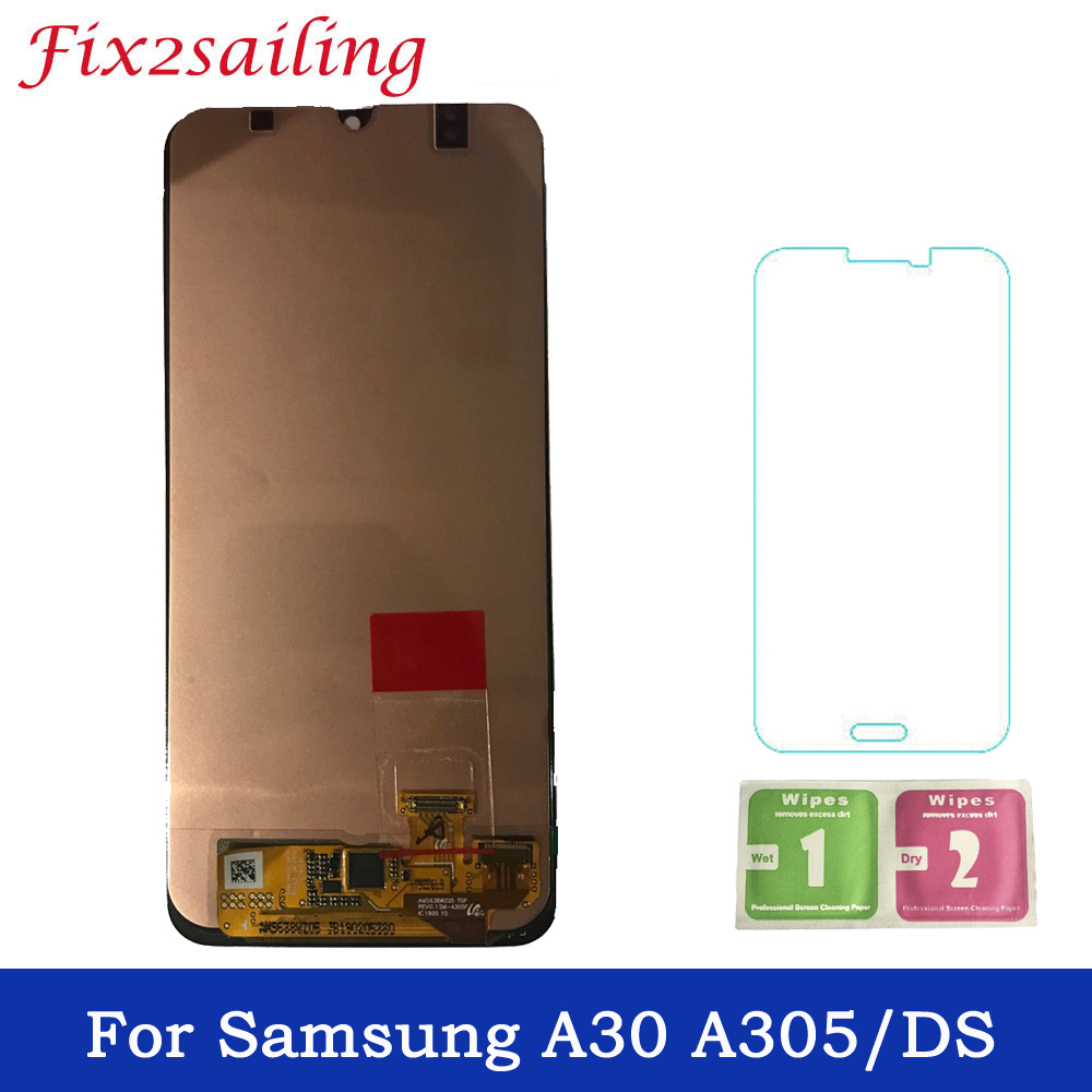 Super AMOLED Display For Samsung galaxy A30 A305/DS A305F A305FD LCD Display Touch Screen Digitizer Assembly Free ShippingSuper AMOLED Display For Samsung galaxy A30 A305/DS A305F A305FD LCD Display Touch Screen Digitizer Assembly Free Shipping