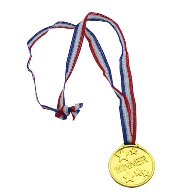 Toys For Awards : Children gold plastic winners medals sports day bag prize