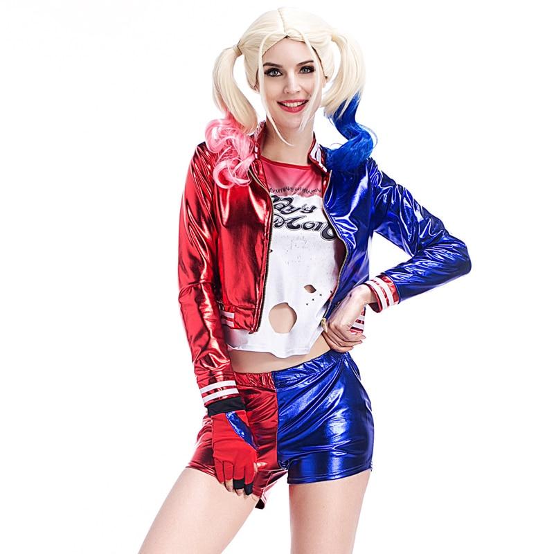 Deluxe Ladies Suicide Squad Harley Quinn Cosplay Fantasias ...