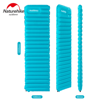 Naturehike Outdoor Camping Mat Manual Inflatable Mattress Moistureproof Pad Beach Swimming Air Bed Sleeping Mat NH15T051-P