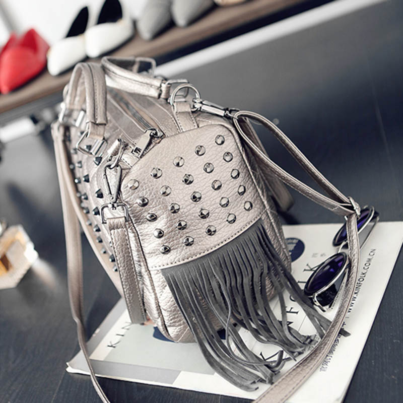 deeb073abdbb ARPIMALA 2018 Winter Luxury Handbags Women Bag Designer Tote Bags Stud  Fringe Big Punk Hand Bags Ladies High Quality Shopper Bag-in Top-Handle Bags  from ...