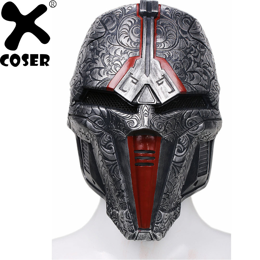 XCOSER 2018 Hot New Style Star Wars Sith Acolyte Cosplay Mask Halloween Party Movie Cosplay Costume Props Masks For Man Male